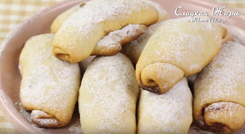 Печенье с повидлом и орехами