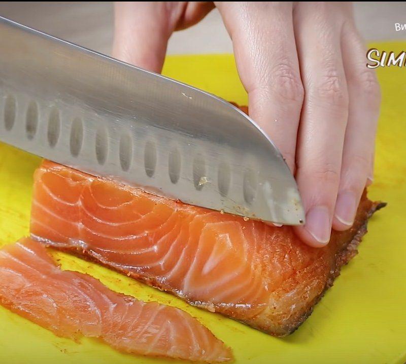 Закуска с лососем
