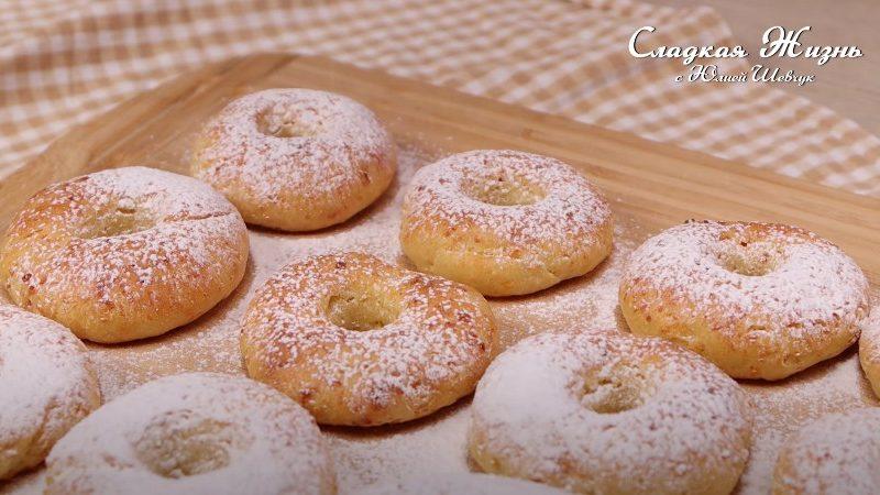 Творожные пончики