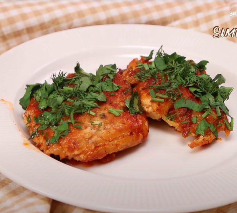 Котлеты из курицы с картофелем и луком