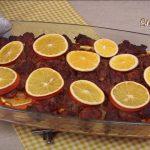 Картофель со свининой в апельсинах
